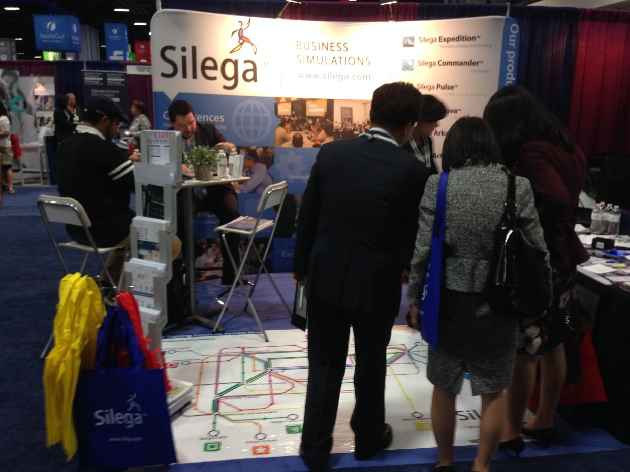 Silega's booth during ASTD 2014